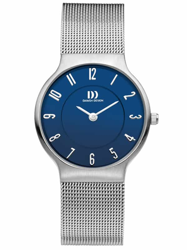 Danish Design Women's Blue-Dial Stainless Steel Wristwatch with Mesh Strap (IV66Q732)