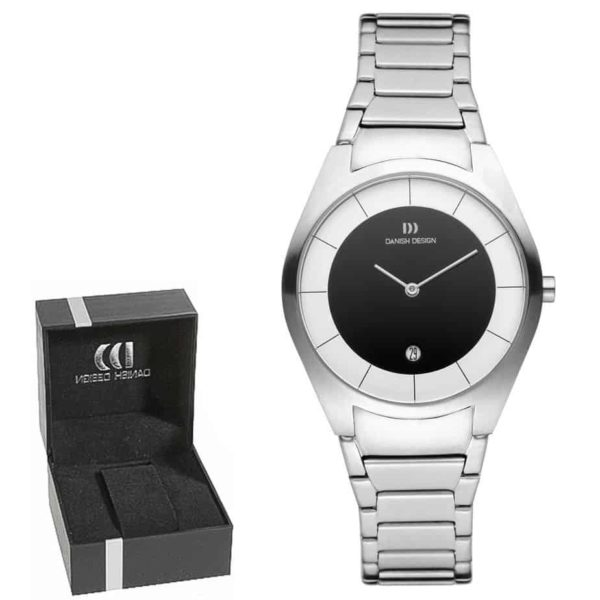 Danish Design Women's Sapphire Two-Tone-Dial Stainless Steel Case and Bracelet Designer Wristwatch by Tirtsah (IV66Q890)