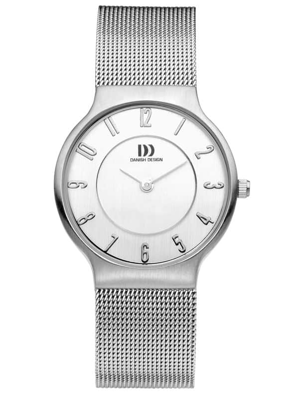 Danish Design Women's White-Dial Stainless Steel Wristwatch with Mesh Strap (IV69Q732)