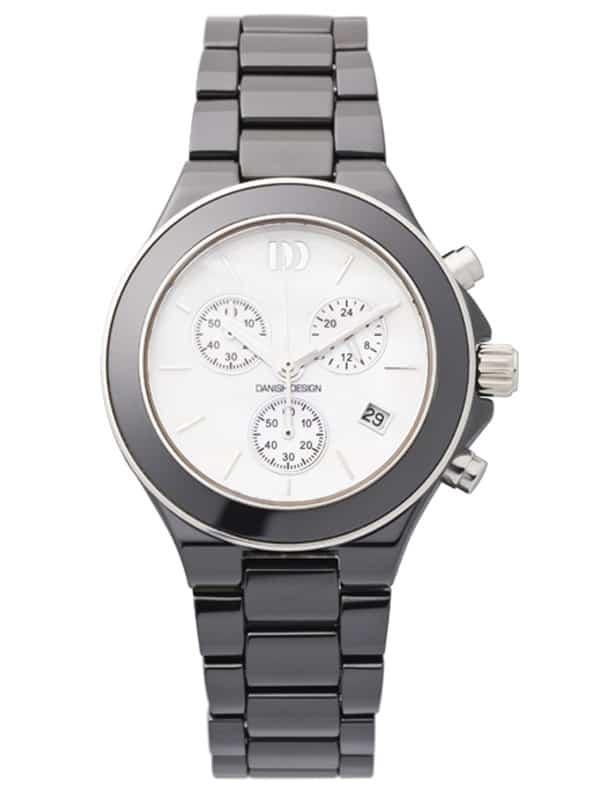 Danish Design Women's Sapphire White-Dial Black Ceramic Wristwatch (IV63Q874)
