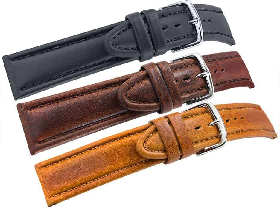 aged-vintage-style-watch-bands-available-in-black,-brown-and-tan