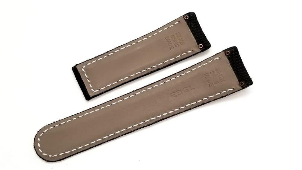 Authentic Ebel black technofiber watch strap