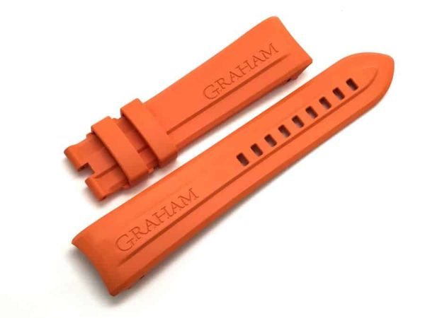Authentic Graham replacement orange watch band 22mm