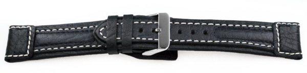 Sport-Leather-Watch-Band-Aviator-Black