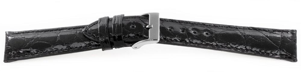 Genuine-Crocodile-Watch-Band-Black-Short