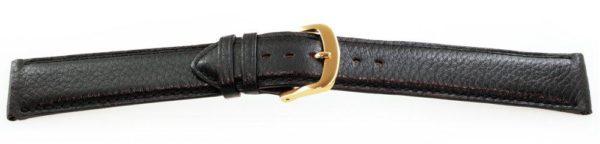 Calfskin Leather Watch Band / Short Black