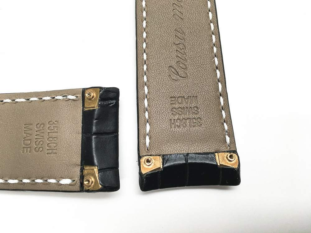 Black Alligator Strap with screw attachments - EB274