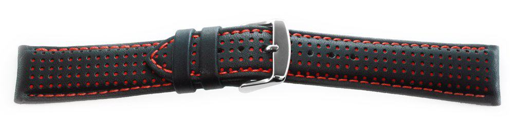 Sport Leather Watch Band / Dotted Pattern Red