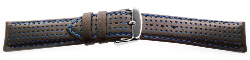 Sport Leather Watch Band / Dotted Pattern Blue