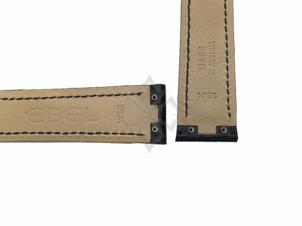 black ebel tarawa 35j4 watch band with screw attachements