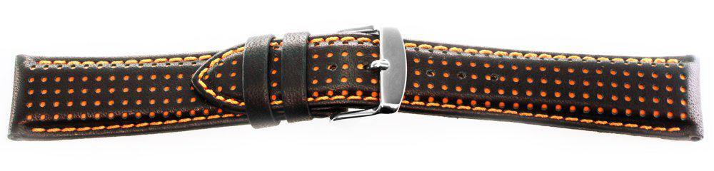 Sport Leather Watch Band / Dotted Pattern Orange