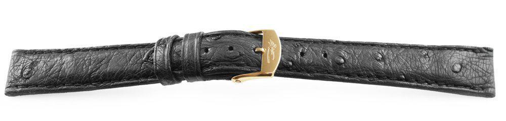 black ostrich watch band