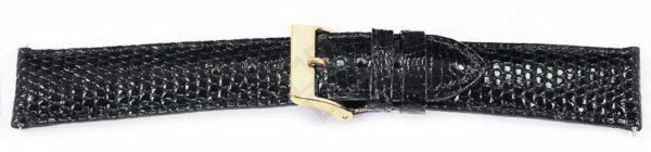 Black Short Lizard Watch Band