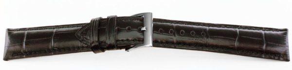 Alligator Grain Watch Band Black