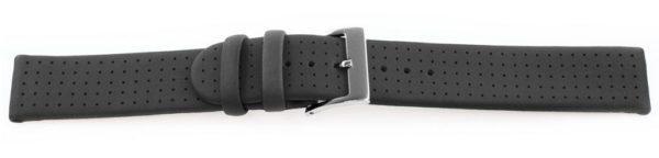 This Swiss-made waterproof watch band Black