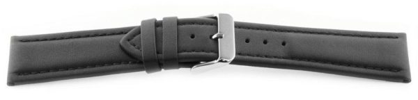 Smooth Leather Watch Band / Water Resistant Black