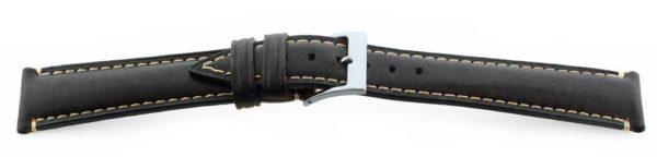 Genuine-Leather-Watch-Band-Lambskin-Black