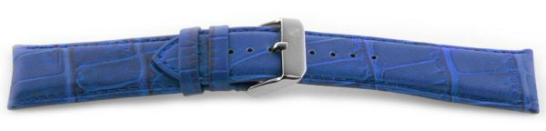 Alligator Grain Watch Band Blue