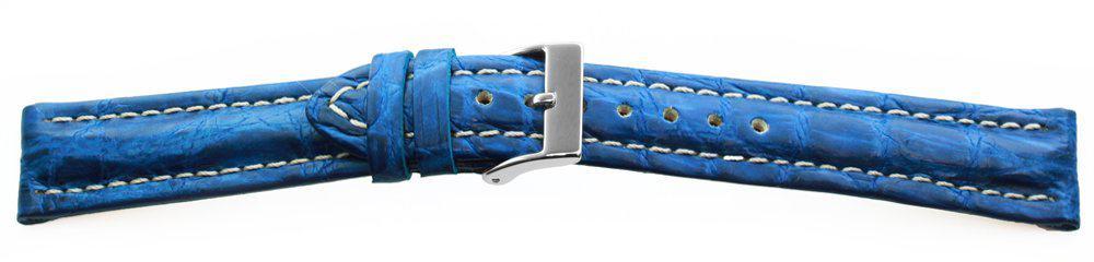 Genuine-Crocodile-Watch-Band-Blue