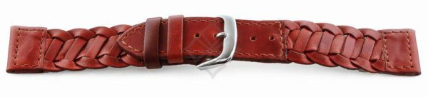 braided tan leather watch band