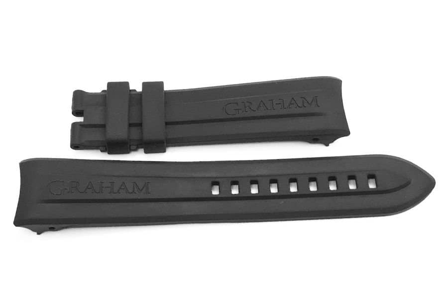 Brand New Genuine Replacement Black Rubber Watch Band