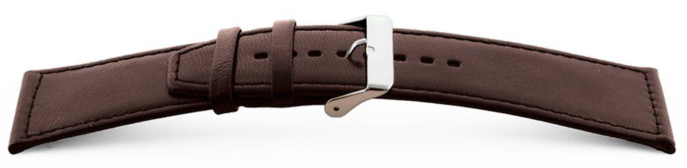 Smooth-Leather-Watch-Band-Wide-Flat-Brown