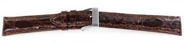 Genuine-Crocodile-Watch-Band-Brown-Long