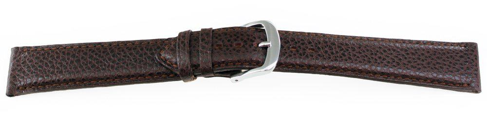 Calfskin Leather Watch Band / Long Brown