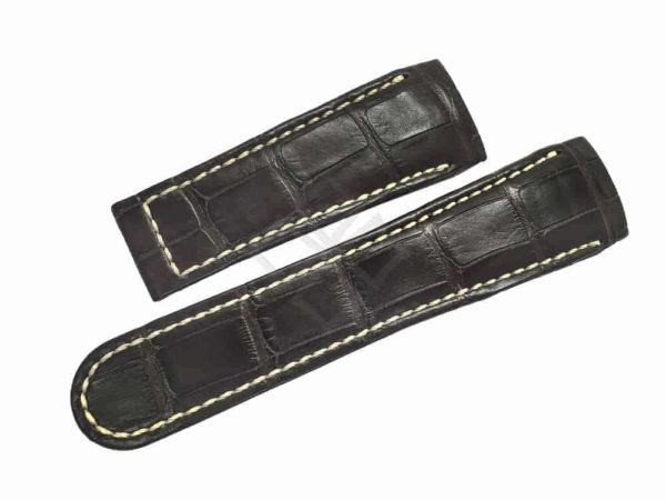 Brown Alligator Watch band for a Ebel Classic Hexagon Watch 9303F61 - eb278