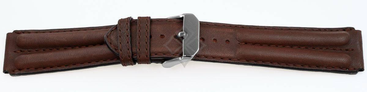 Brown Double Ridged Watch Strap - 14618