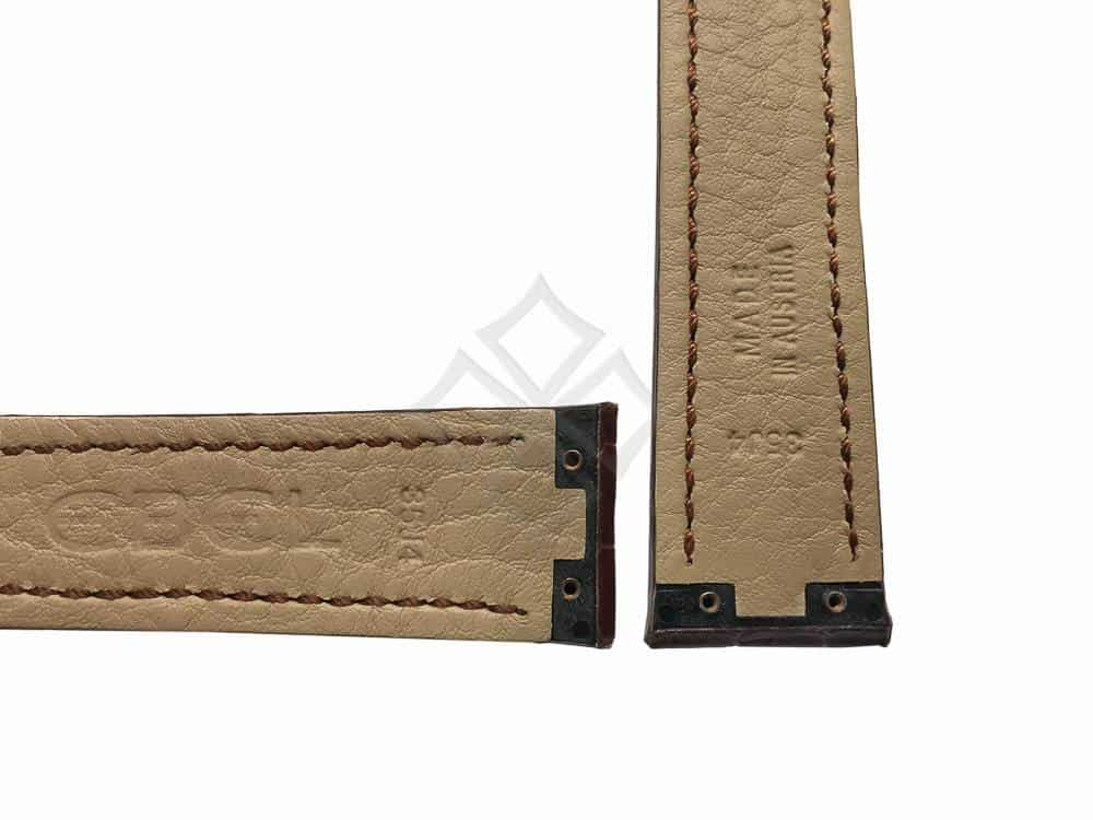 brown ebel tarawa 35j4 watch band with screw attachements