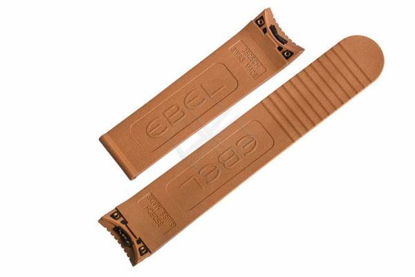 brown rubber strap with screw attachements for Ebel Classic Sport 9503Q51