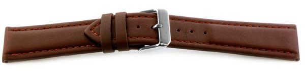 Smooth Leather Watch Band / Water Resistant Brown