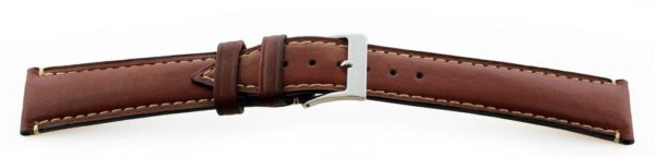 Genuine-Leather-Watch-Band-Lambskin-Brown