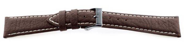 Sport Leather Watch Band  / Contrast Stitching Dark Brown