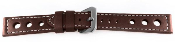 Sport Leather Watch Band Brown