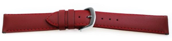 Smooth Leather Watch Band / Quick Release Burgundy