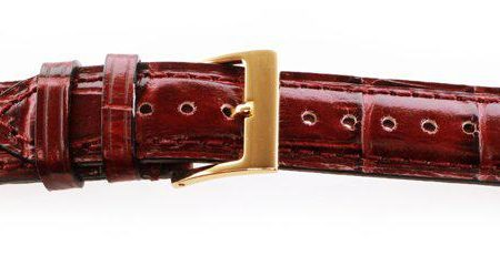 Alligator Grain Watch Band Burgundy