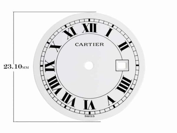 csomard - Replacement Round Dial for Cartier Santos