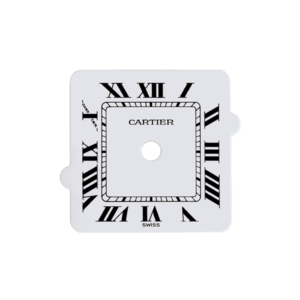csladwr - White Square Dial with Roman Numerals for Ladies