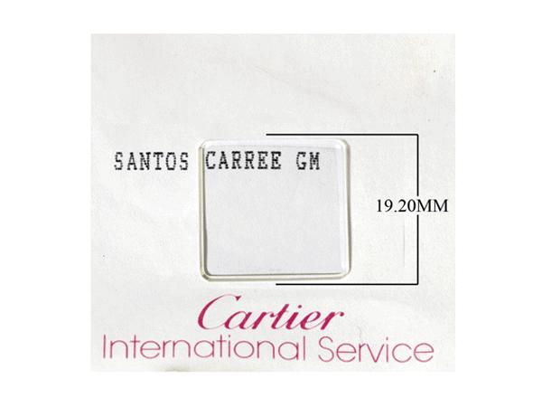 oscmcsr - Original Square Crystal for Men's Cartier Santos Square Watch