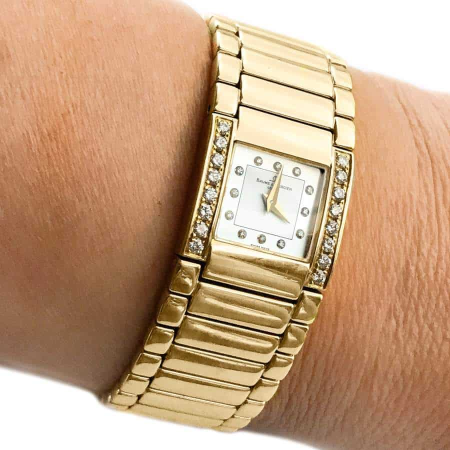 Certified Pre-Owned Baume & Mercier Catwalk 18K Gold wrist shot