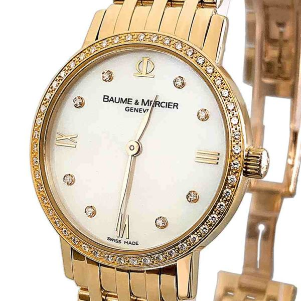 Classima Executives 18K Gold Ladies Diamond Watch