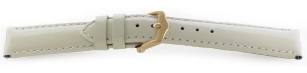 Glossy Leather Watch Band /  Short - Quick Release Cream