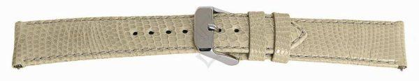 Cream Short Lizard Watch Band