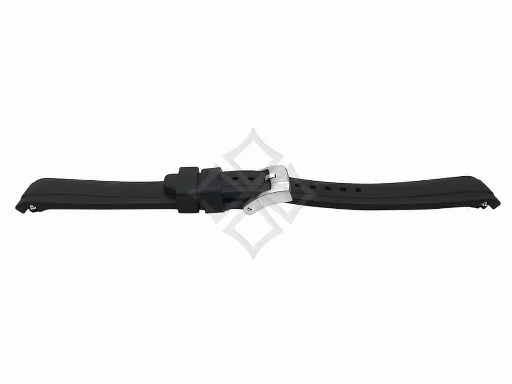 Curved rubber watch strap for rolex sport models