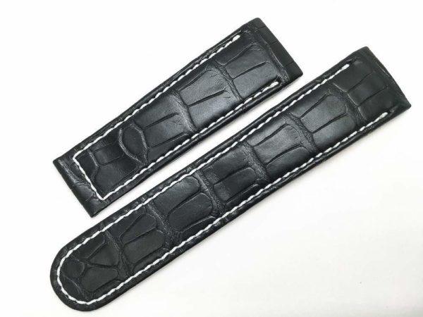 EB274 - Ebel 1911 Replacement Tekton Black Alligator Watch Band