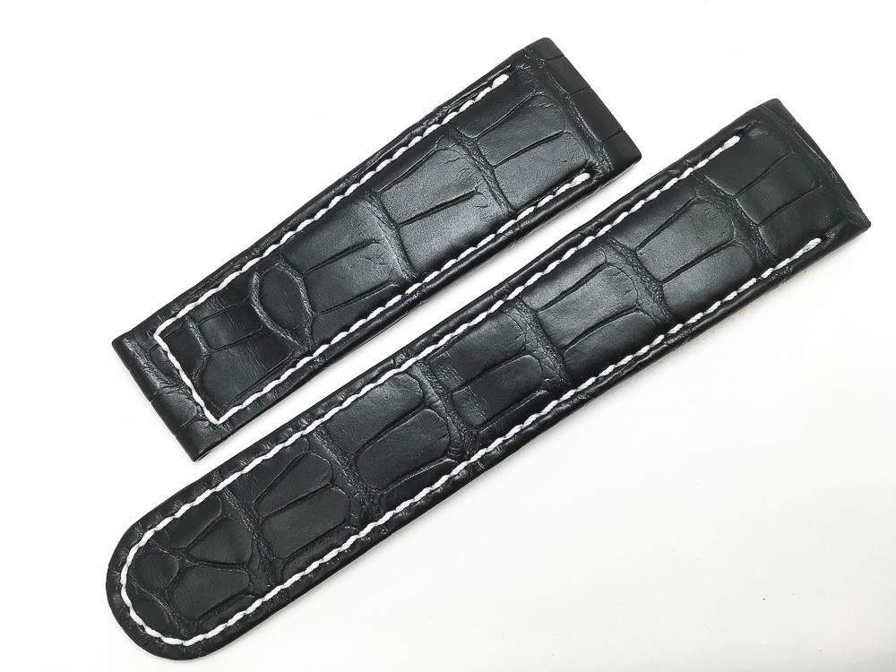 EB274 - Ebel 1911 Replacement Tekton Black Alligator Watch Band