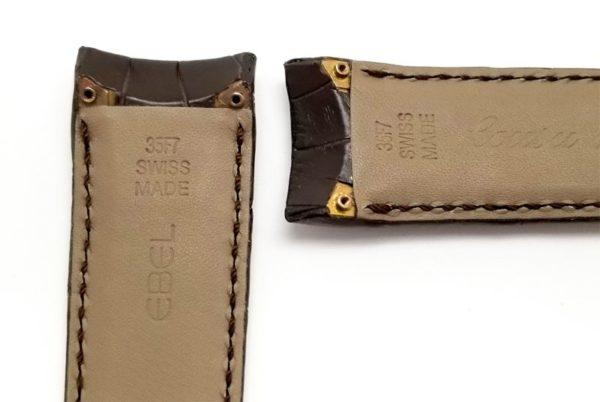 EBEL-Swiss-Made-35F7-brown-alligator-watch-band