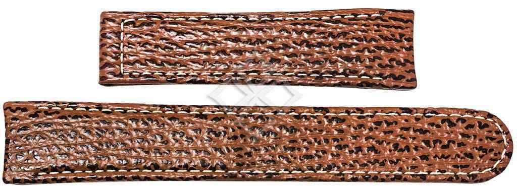 Ebel 1911 brown sharkskin watch band - 20mm wide